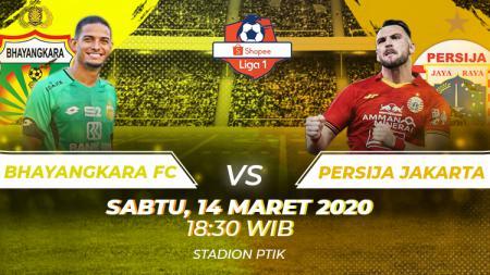 Berikut prediksi pertandingan Bhayangkara FC vs Persija Jakarta pada pekan ketiga Liga 1 2020, Sabtu (14/03/20) WIB. - INDOSPORT