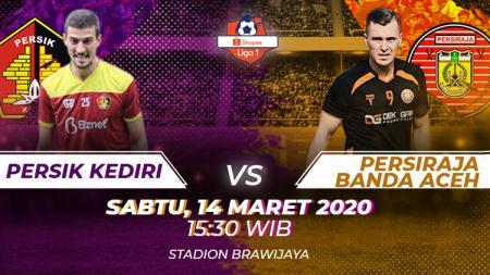 Berikut prediksi pertandingan antara Persik Kediri vs Persiraja Banda Aceh dalam lanjutan Liga 1 2020 pekan ke-3, Sabtu (14/03/20) sore WIB. - INDOSPORT