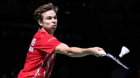Pebulutangkis gurem asal Jerman sukses membuktikan diri dengan membungkam perlawanan unggulan 1 sekaligus runner-up Denmark Open 2020, Rasmus Gemke. - INDOSPORT