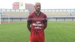 Indosport - Gelandang anyar Persita Tangerang, Raphael Maitimo.