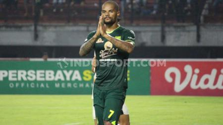 Striker Persebaya, David da Silva. - INDOSPORT