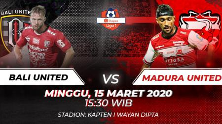 Berikut link live streaming pertandingan sepak bola Shopee Liga 1 Indonesia 2020 antara Bali United vs Madura United yang akan digelar Minggu (15/03/20). - INDOSPORT