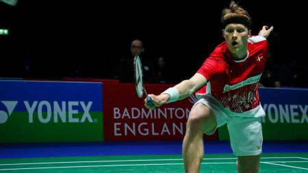 Anders Antonsen di All England 2020. - INDOSPORT