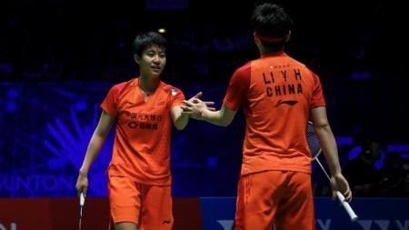 Bukan pertandingan pasangan Apriyani Rahayu/Greysia Polii, duet Siti Fadia Silva Ramadhanti/Ribka Sugiarto justru lebih suka menonton pertandingan pasangan ini. - INDOSPORT