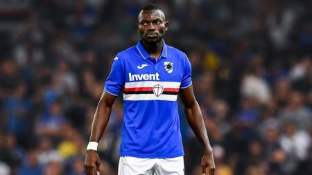Pemain klub Serie A Sampdoria Omar Colley ternyata pernah berduel dengan eks PSM Makassar Eero Markkanen usai resmi negatif dari virus corona. - INDOSPORT