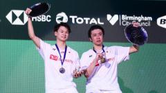 Indosport - Wakil Jepang, Yuta Watanabe kebingungan ketika ditanya mana yang paling susah dikalahkan antara Kevin Sanjaya/Marcus Gideon dan Mohammad Ahsan/Hendra Setiawan.