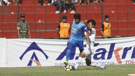 Aksi Riskal Susanto saat berseragam PSIM Yogyakarta pada Liga 2 2018. - INDOSPORT