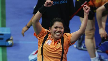 Sukses membantu tim bulutangkis Indonesia hancurkan dominasi tim China, Mia Audina jadi sorotan. - INDOSPORT
