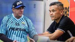 Indosport - Pelatih Persib Robert Rene Alberts dan pelatih Persiraja Hendri Susilo.