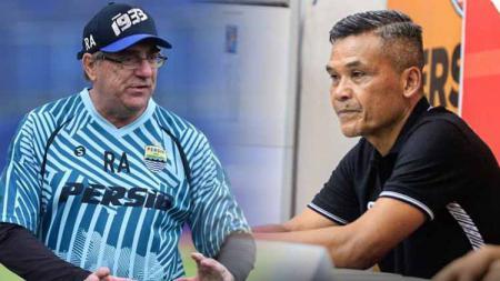 Pelatih Persib Robert Rene Alberts dan pelatih Persiraja Hendri Susilo. - INDOSPORT