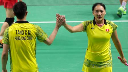 Tse Ying Suet/Tang Chung Man di Asian Games 2018. - INDOSPORT