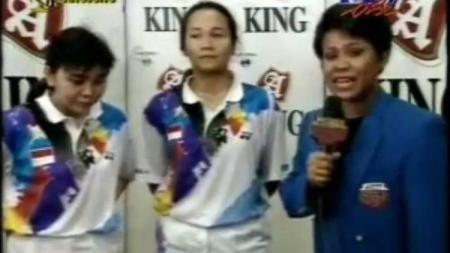 Ganda putri Indonesia di Piala Uber 1994 dan 1996, Lili Tampi dan Christina Finarsih - INDOSPORT