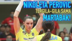 Indosport - Nikoleta Perovic, pemain voli asing dari tim Proliga Bandung BJB Tandamata.