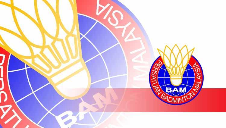 Logo Badminton Association of Malaysia (BAM). Copyright: Garfis: Yanto/INDOSPORT