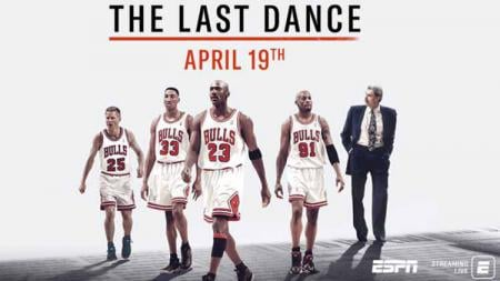 Serial dokumenter Michael Jordan dan Chicago Bulls, The Last Dance, di Netflix. - INDOSPORT