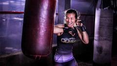 Indosport - Priscilla Hertati Lumban Gaol, petarung MMA.