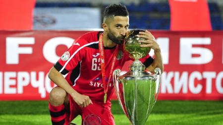 Pemain FC Istiklol (Tajikistan) Manucheckhr Dzhalilov, diminta oleh Bonek untuk kembali ke Persebaya Surabaya setelah menjadi pemain terbaik Tajikistan Super Cup 2020. - INDOSPORT