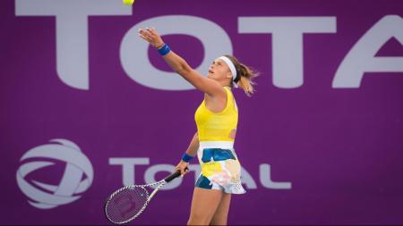 Pemanin tenis nomor satu Belarusia, Aryna Sabalenka unggah foto telanjang dada di tengah panemi virus corona - INDOSPORT