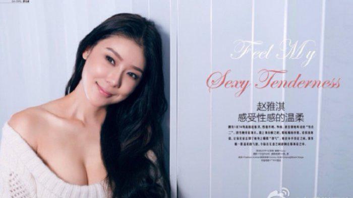 Model dan artis seksi China yang pernah selingkuh dengan Lin Dan. Copyright: Weibo