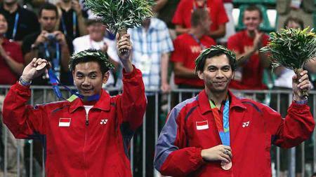 Legenda ganda putra Indonesia, Flandy Limpele kenang pelajaran menyakitkan kala bersua ganda Malaysia di Olimpiade 2000. - INDOSPORT