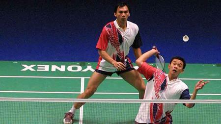 Berikut pasangan ganda Indonesia dengan partner beda negara yang sukses di kancah internasional dan meraih berbagai gelar juara BWF. - INDOSPORT