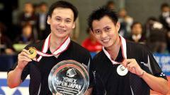 Indosport - Candra Wijaya dan Tony Gunawan saat menjuarai Yonex Japan Open.