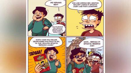 LaLiga mengeluarkan komik hasil kerjasamanya bersama Juki, serial komik populer di Indonesia, untuk memperkenalkan sepak bola Spanyol. - INDOSPORT