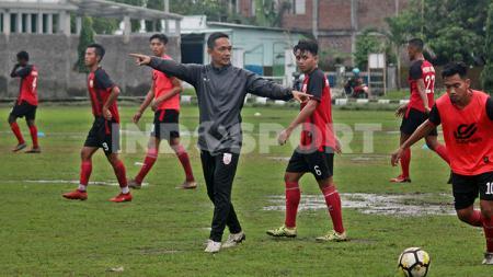 Klub Liga 2 Persis Solo saat menggelar latihan. - INDOSPORT