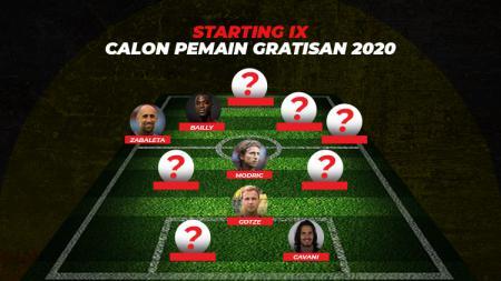 Starting XI calon pemain gratisan liga-liga top Eropa 2020. - INDOSPORT