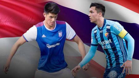 Timnas Indonesia dan Thailand sama-sama memiliki calon bek naturalisasi yang bermain di Eropa. Berikut perbandingan Elkan Baggott dengan Anthonio Sanjairag. - INDOSPORT