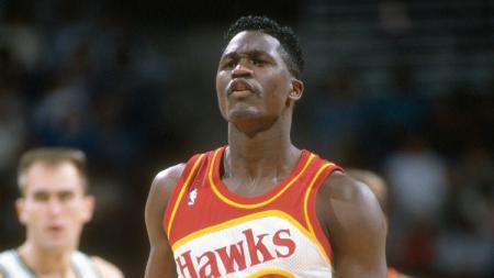 Salah satu legenda NBA dari tim Atlanta Hawks, Dominique Wilkins. - INDOSPORT