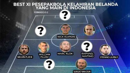Berikut best starting XI pesepakbola kelahiran Belanda yang pernah atau masih bermain di kasta teratas sepak bola Indonesia. - INDOSPORT