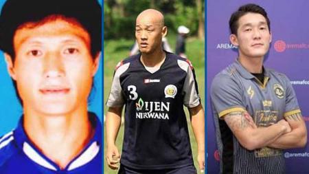 3 Pemain Korea Selatan Han Yong-kuk, Kim Yong-hee, Oh In-kyun yang bermain di Arema FC. - INDOSPORT