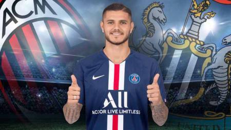 Klub besar Serie A, AC Milan dikabarkan tertarik memboyong striker Paris Saint-Germain, Mauro Icardi. - INDOSPORT