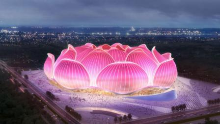 China memang sedang gencar membangun stadion-stadion megah untuk mengajukan diri sebagai tuan rumah Piala Dunia 2030.