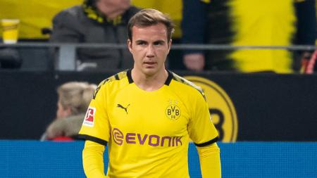 Pemain klub Bundesliga Jerman Borussia Dortmund Mario Gotze. - INDOSPORT