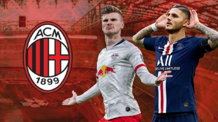 Berikut 3 striker yang bisa menjadi teman duet terbaik Werner di lini serang AC Milan pada Serie A Italia musim depan. - INDOSPORT