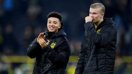 Jika Jadon Sancho sukses dibeli Manchester United dari Borussia Dortmund, rival Liga Inggris, Manchester City malah ketiban untung besar. - INDOSPORT