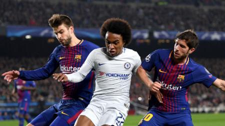 Tak dibutuhkan Barcelona, Sergi Roberto ingin dipertemukan lagi dengan Pep Guardiola di Manchester City. - INDOSPORT