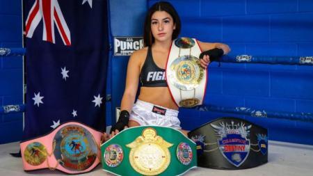 Atlet Muay Thai dan Jiu Jitsu asal Australia, Jasmine Parr. - INDOSPORT
