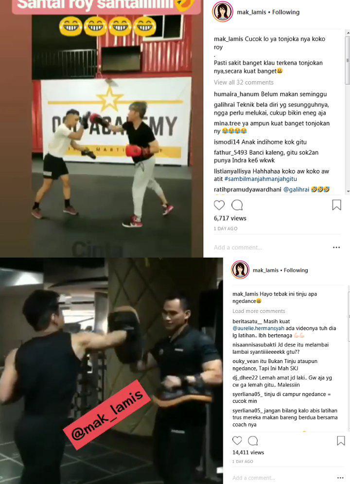 Roy Kiyoshi latihan Muay Thai Copyright: Instagram Mak Lamis