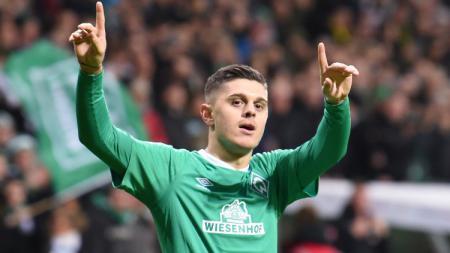 Milot Rashica, pemain Werder Bremen yang diincar Liverpool. - INDOSPORT