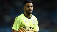 Indosport - Pemain Manchester City, Riyad Mahrez di Piala FA.