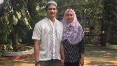 Indosport - Pasangan eks pebulutangkis, Maria Febe dan Andrei Adistia.