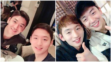 Lee Yong-dae dan Choi Sol-gyu dekat satu sama lain. - INDOSPORT