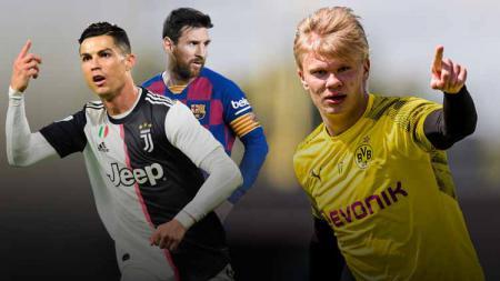 Erling Haaland bakal diduetkan dengan Lionel Messi di Barcelona hingga nasib Diego Costa dan Cristiano Ronaldo. Berikut rekap rumor transfer. - INDOSPORT