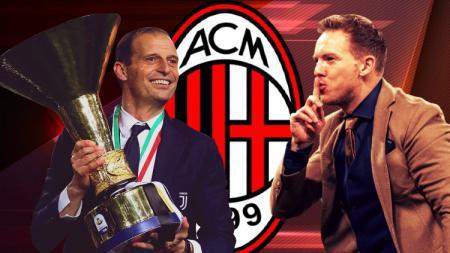 Massimiliano Allegri, pelatih asal Italia, mungkin lebih cocok menangani AC Milan, ketimbang juru taktik Jerman berjuluk 'Mini Mourinho', Julian Nagelsmann. - INDOSPORT