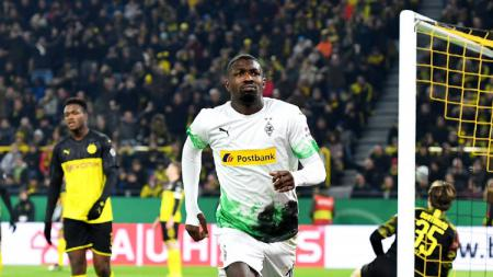 Pemain Borussia Monchengladbach, Marcus Thuram. - INDOSPORT