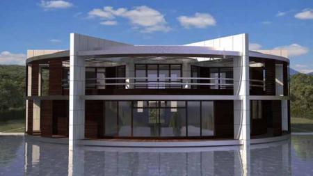 Rumah mewah Lionel Messi yang berbentuk bola. - INDOSPORT