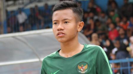 Salah satu pemain Timnas Indonesia U-16, Ruy Arianto punya cerita lucu menjelang training center (TC) yang berlangsung. - INDOSPORT